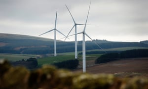 Small windfarms like this one in Scotland will generate all the electricity sold through the Community Power tariff.