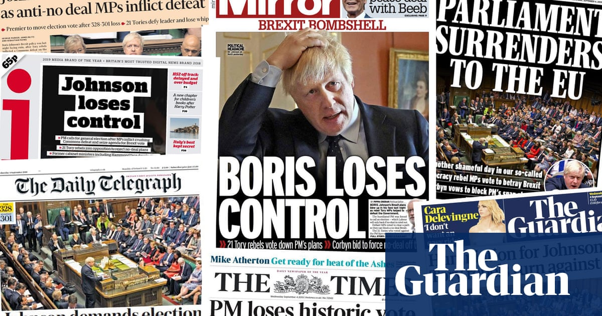 Johnson loses control: how the papers covered the historic Commons defeat