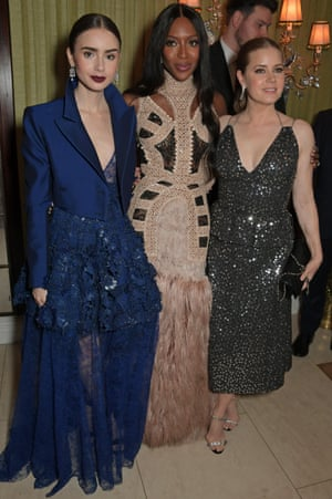 Lily Collins, Naomi Campbell and Amy Adams