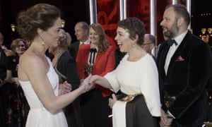 The Duchess of Cambridge meets Bafta royalty, Olivia Colman, and The Favourite director Yorgos Lanthimos