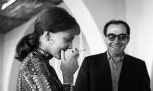 Wiazemsky with Jean-Luc Godard in Venice, 1967.
