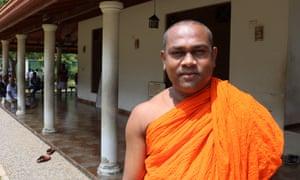 Bergama Gnana Thilaka, the chief priest at a Buddhist temple in Hambantota