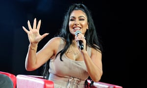 Huda Kattan speaks onstage during Beautycon festival 2019 at Los Angeles Convention Center