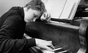 Oliver Knussen at the piano age 15 in 1967.