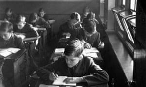 Pupils at Beckenham and Penge Grammar School, in 1950