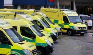 Royal Liverpool Hospital ambulances