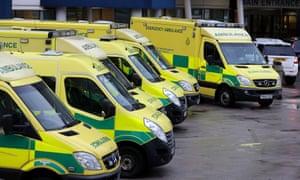 Ambulances outside the Royal Liverpool hospital