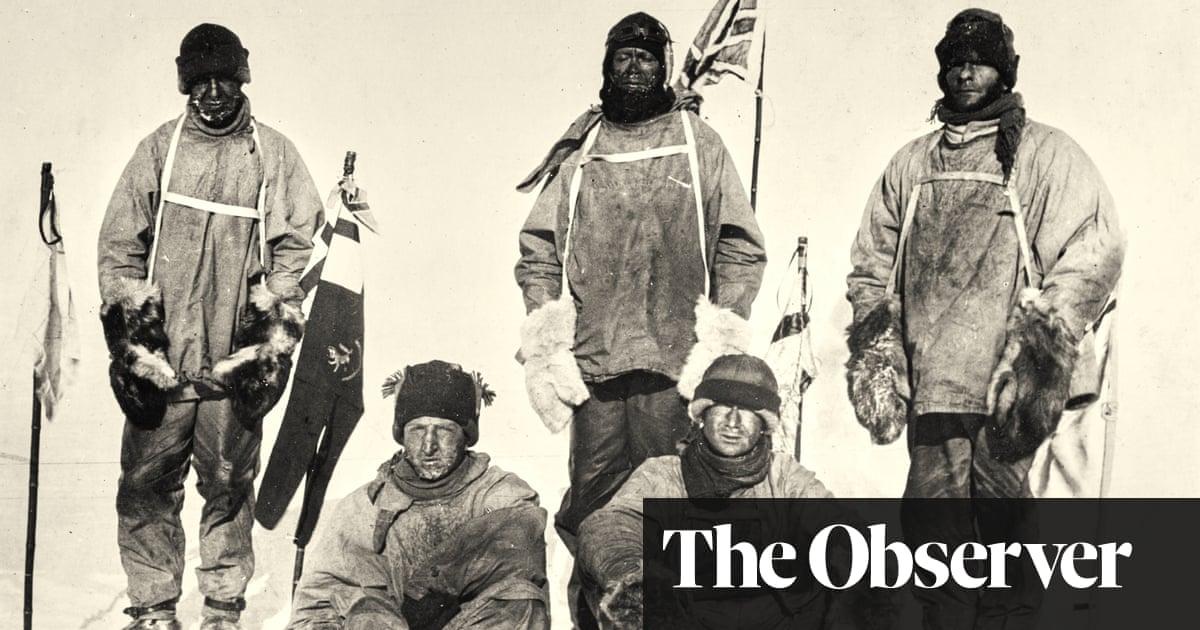 Tired, frozen, beaten: image of Captain Scott's expedition