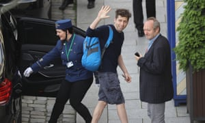 Sam Altman, president of Y Combinator, arrives at the Hotel Taschenbergpalais Kempinski Dresden for the Bilderberg Group conference on 9 June 2016 in Dresden, Germany.