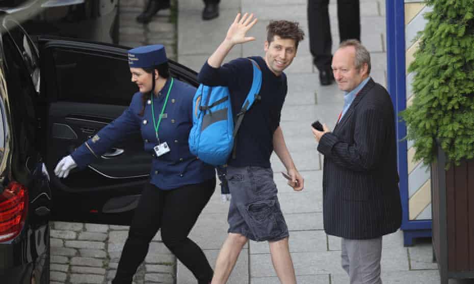 Sam Altman, president of Y Combinator, arrives at the Hotel Taschenbergpalais Kempinski Dresden for the Bilderberg Group conference on 9 June 2016 in Dresden, Germany.