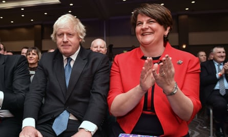 Boris Johnson with Arlene Foster at the Democratic Unionist Party conference last year.