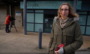 Melanie Roberts outside the County Oak medical centre.