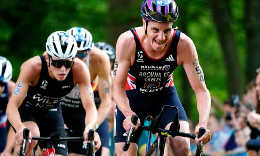 Alistair Brownlee in action ahead of learning of his disqualification from the event in Leeds.