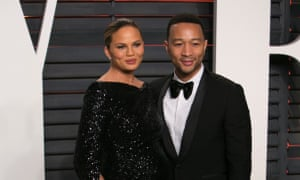 John Legend and Chrissy Teigen on their way to the Vanity Fair party: or is it Mr and Mrs Dave Schilling?