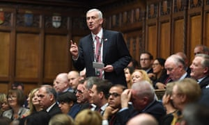 Lindsay Hoyle during the election debate for a new Speaker in the Commons on 4 November.