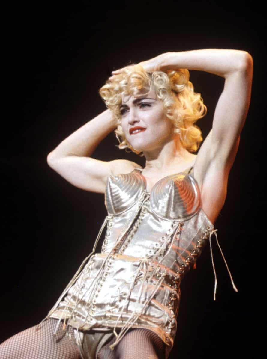 Madonna at Wembley in 1990.