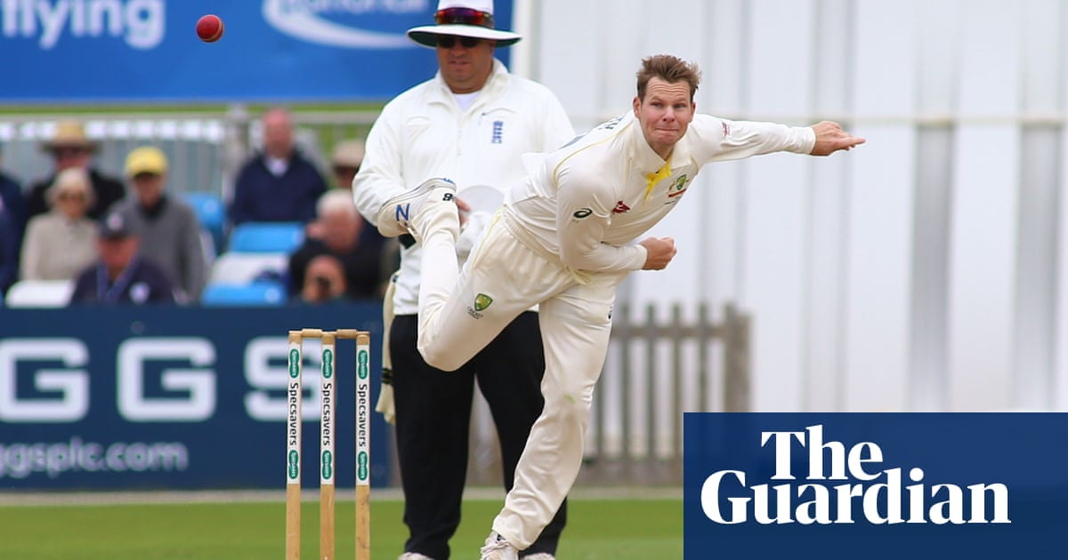 Steve Smith has a quiet day on return for Australia against Derbyshire