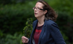 Natalie Evans arrives in Downing Street