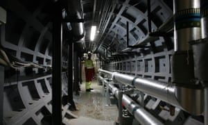 The network of tunnels exporting heat to the City of London