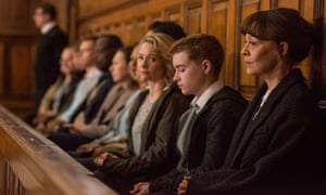 Quietly heartfelt … Rebecca Callard as Annie, Jack Hollington as Jason and Helen McCrory as Emma.