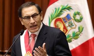 Vizcarra's move comes as the fight against corruption dominates South America's political agenda.