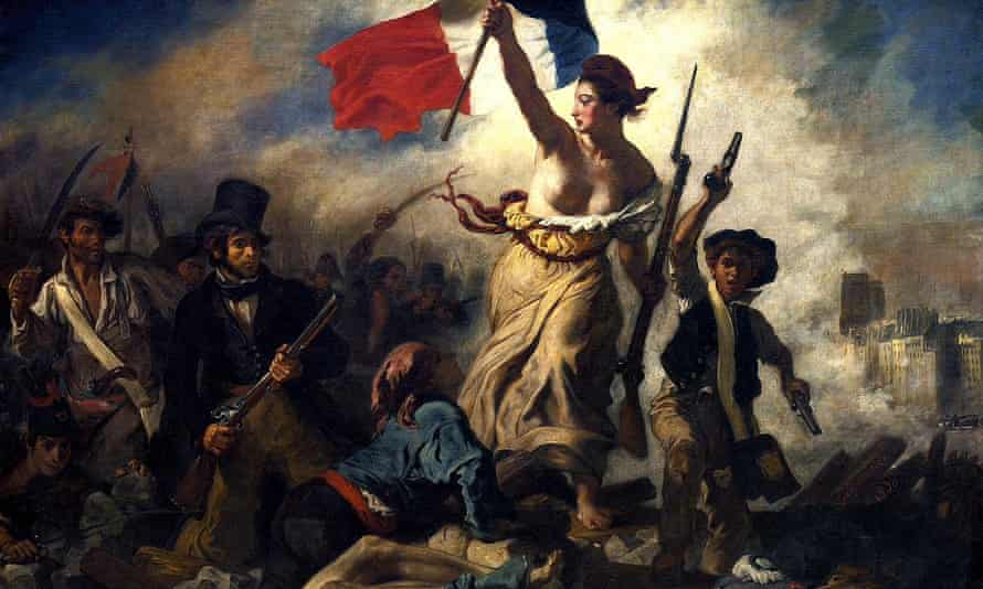 A detail from Delacroix's painting, Liberty leading the people.