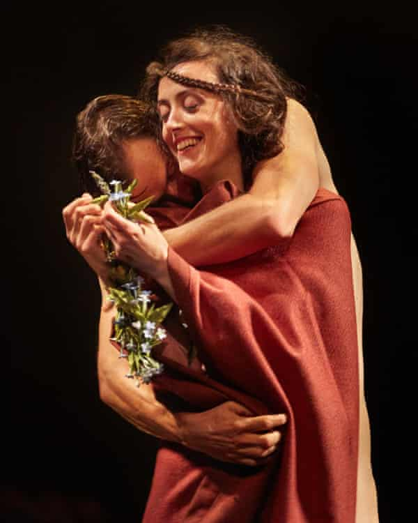 Jonah Russell (Mellors) and Hedydd Dylan (Constance) in Lady Chatterley's Lover.