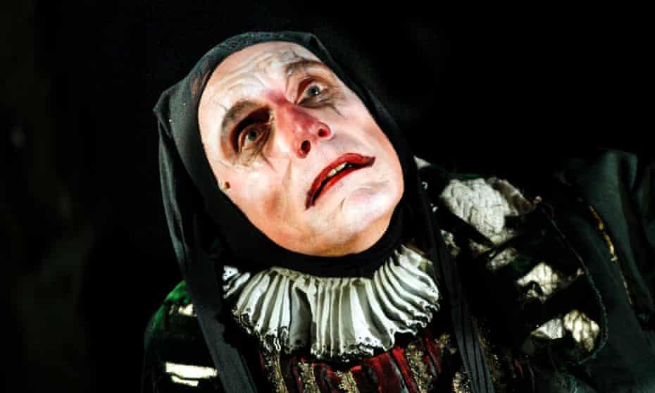 'A slithering torturer clown': Julian Bleach in The Grinning Man.