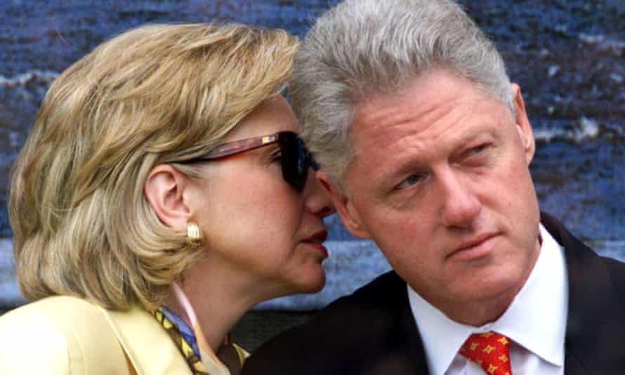 Hillary and Bill Clinton in Limerick during a presidential visit to Ireland in September 1998.