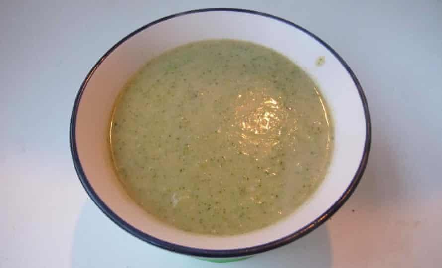 Caroline Hire broccoli and stilton soup