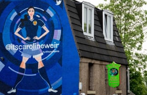 The mural of Scotland's Caroline Weir on the side of the Royal Bengal in Dunfermline.