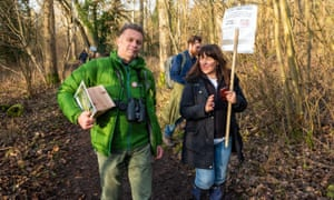 Chris Packham in woods
