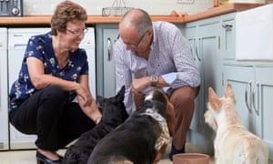 Homesitters pet carers Ros and Jim Slaughter