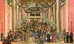 A detail from The Masquerade in Haymarket peepshow circa 1826.