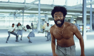 Complex dissection of gun violence and racism … Childish Gambino in the video for This Is America.