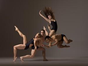 Jacinthe Burton, Jesus Olivera, Alyssa Maksym, and Jason Garcia Ignacio / Eryc Taylor Dance, 2013 Photo by Lois Greenfield
