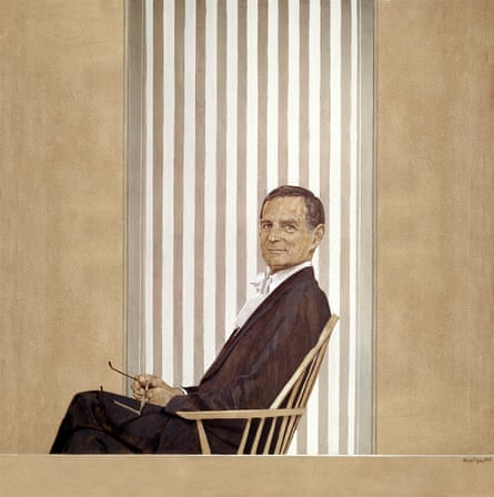 Rex Richards, 1977, acrylic on canvas, by Bryan Organ.