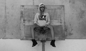 Beyonce's in an Ivy Park hooded top