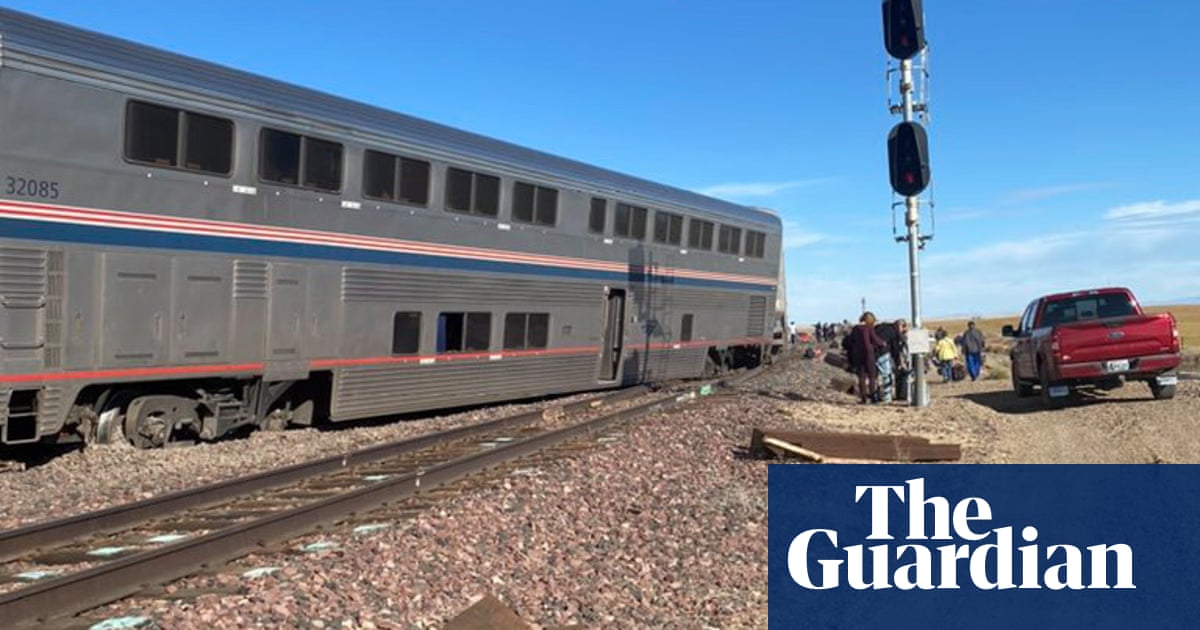 At least three dead after Amtrak train derails in Montana – video