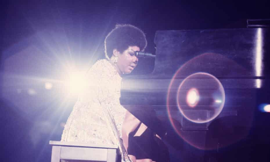 Aretha Franklin performs in New York, 1969.