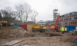 Site of the former Thamesbrook nursing home, making way for the Auriens project.