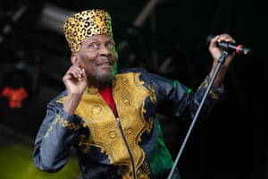'Delightedly veering into stately limb-flailing dances' ... Jimmy Cliff at Love Supreme, July 2019.