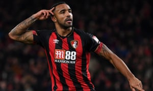 Callum Wilson celebrating one of the goals that might persuade Chelsea to pay £75m for him.