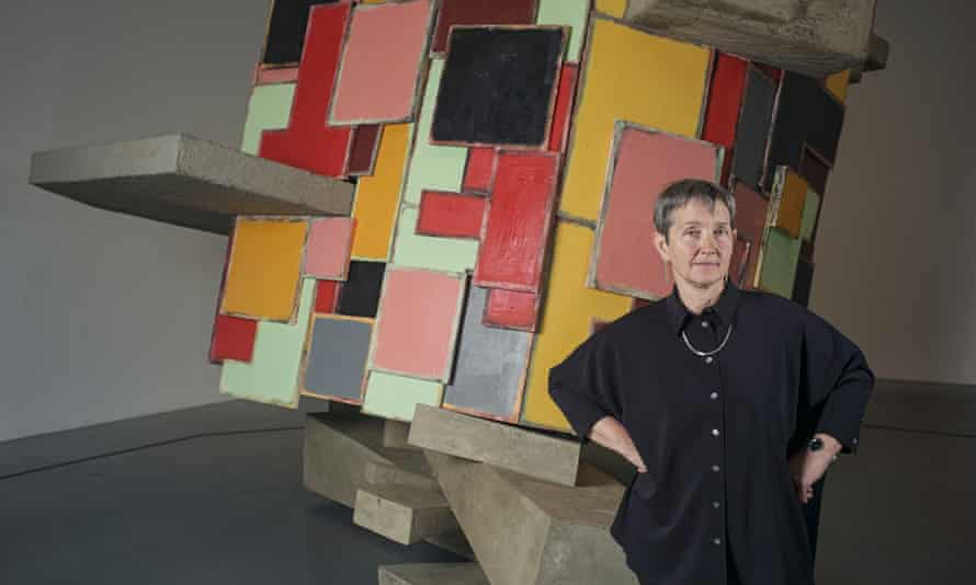 Frances Morris, the new director of Tate Modern, in front of untitled: upturnedhouse, 2 (2012) by Phyllida Barlow.