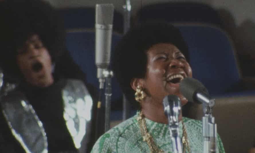 She isn't performing, she's testifying … Aretha Franklin in Amazing Grace.