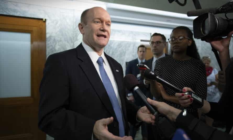Senator Chris Coons, of the Senate foreign relations committee, said: 'For this to be anything more than a reality TV handshake summit, there's going to need to be a lot of hard work in the months ahead. I'm concerned that the Trump administration isn't prepared to do that hard work.
