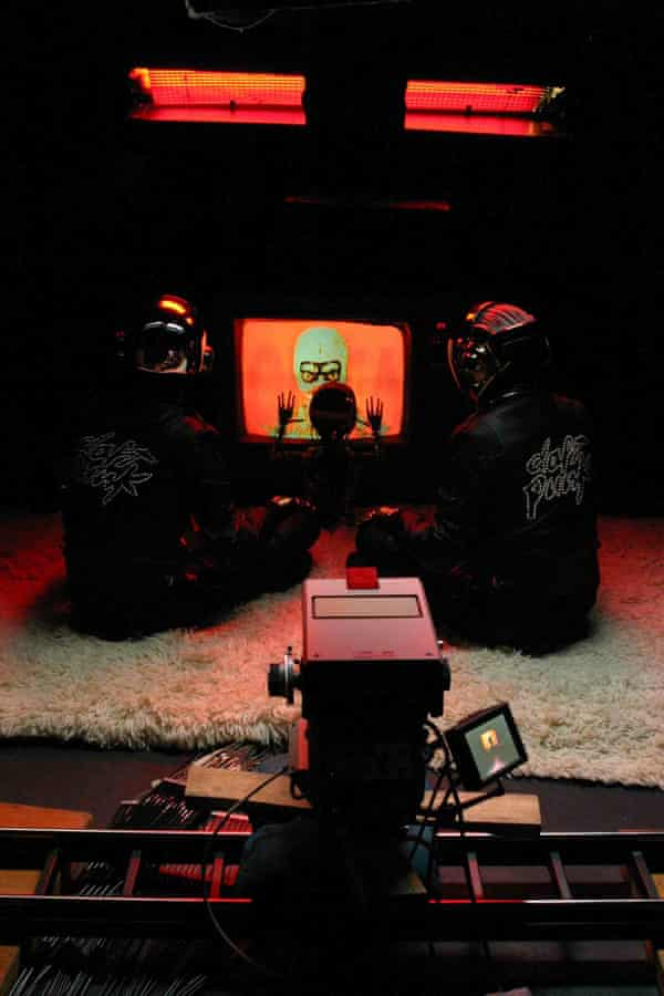 Robots rock: Two models of Daft Punk from the Electro exhibition.