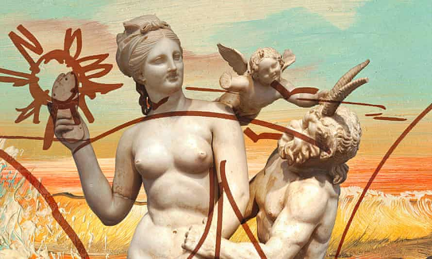 A detail from Jeff Koons's Antiquity 1 oil on canvas which will be on display.