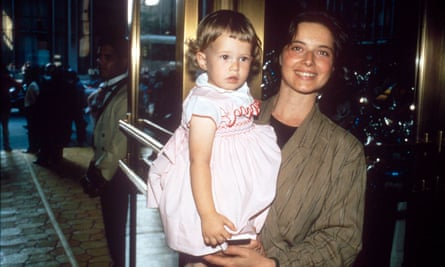With her daughter, Elettra, in 1985