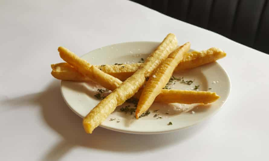 Panisses at Sessions Arts Club: 'Long, crisp, delicious churros seasoned with lemon thyme and sea salt.'